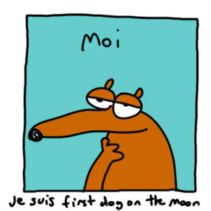 Portrait of First Dog on the Moon