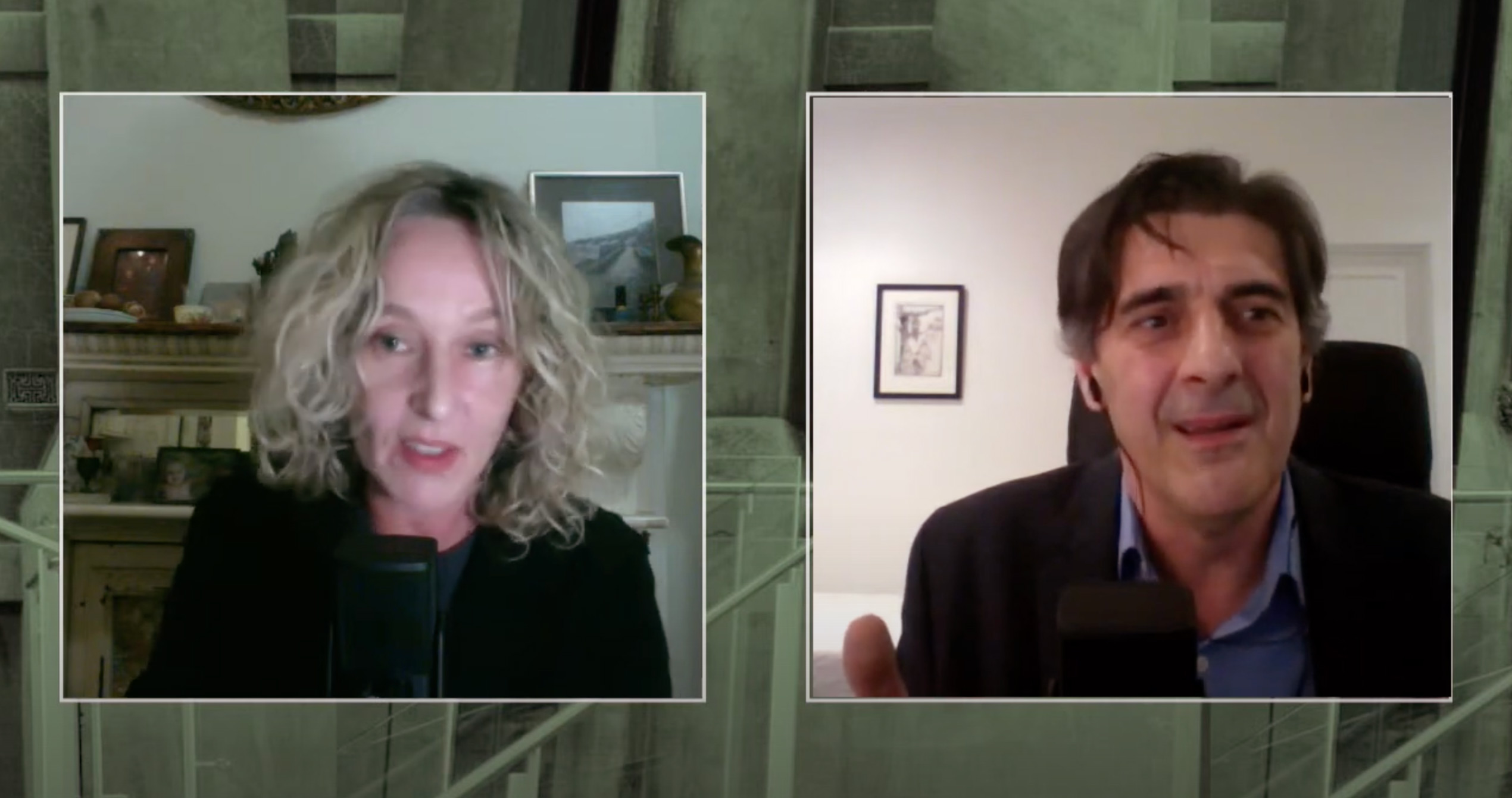 Screenshot of Sally Warhaft and George Megalogenis