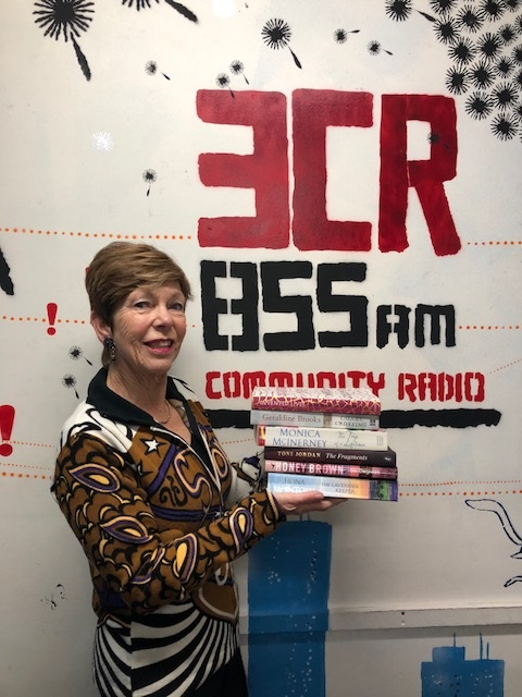 Photograph of broadcaster Jan Goldsmith at community radio station 3CR