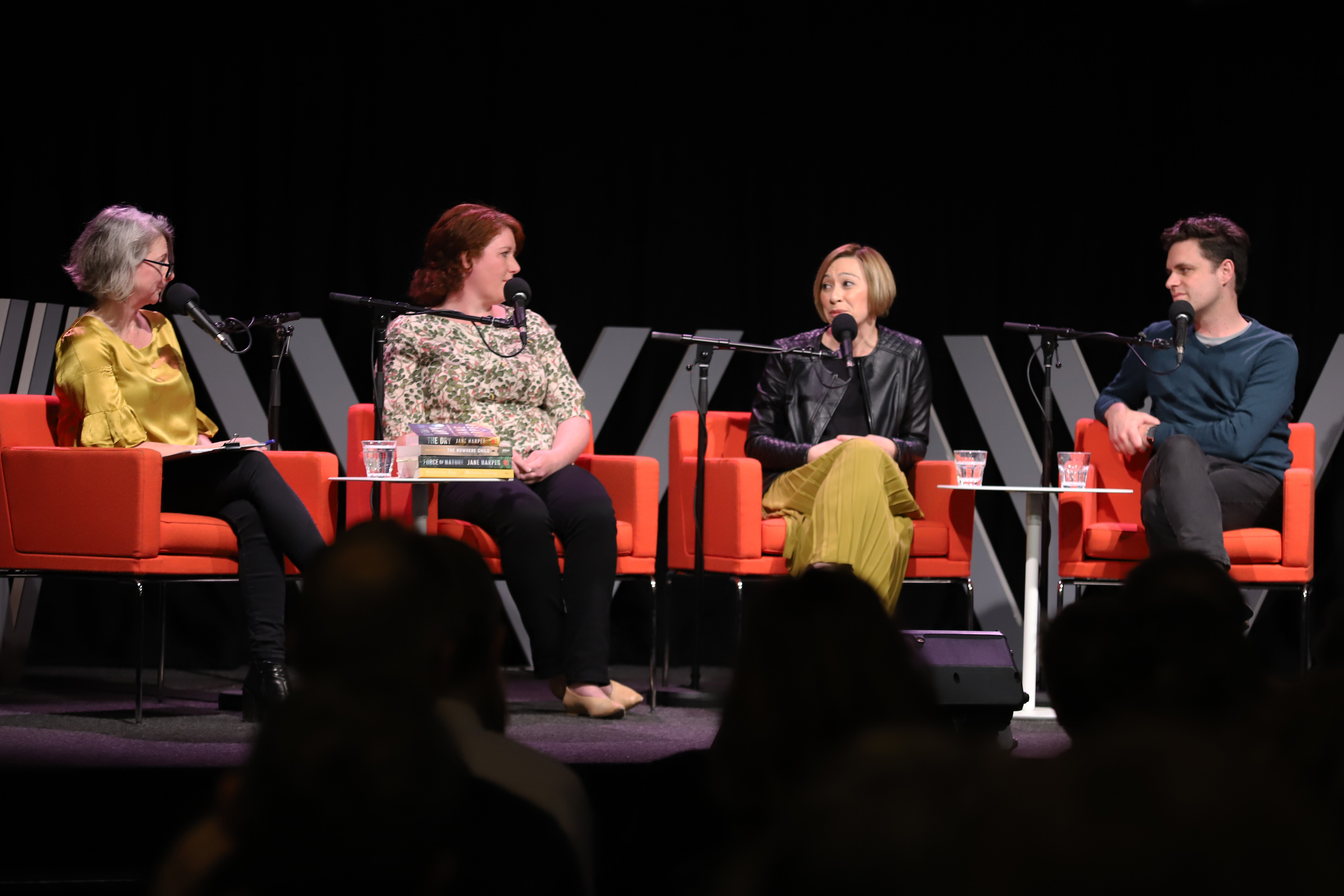 Photograph of the panellists on stage