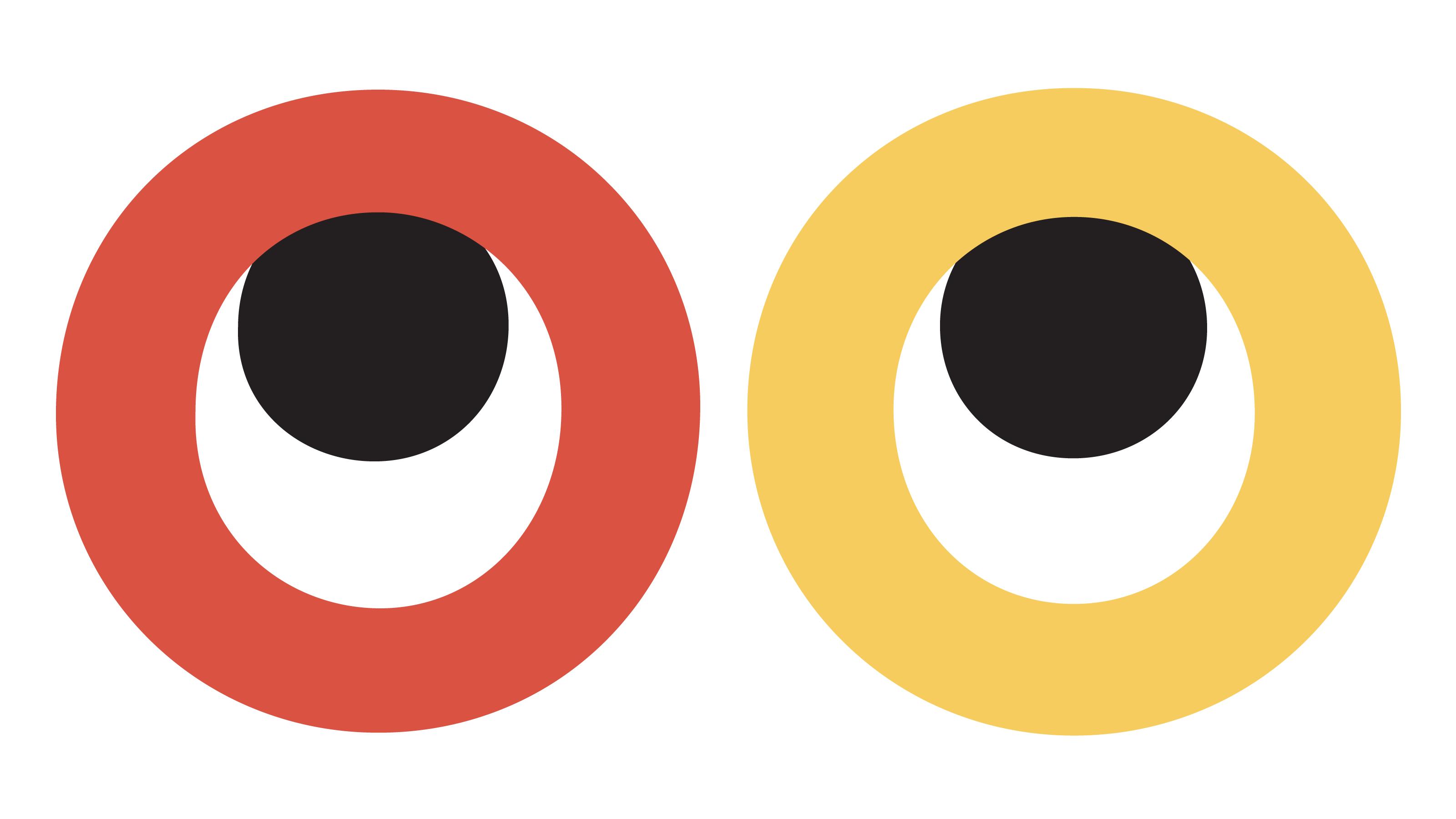 Illustration: Two Os in the middle of the word 'Google', with black dots indicating an eye-roll