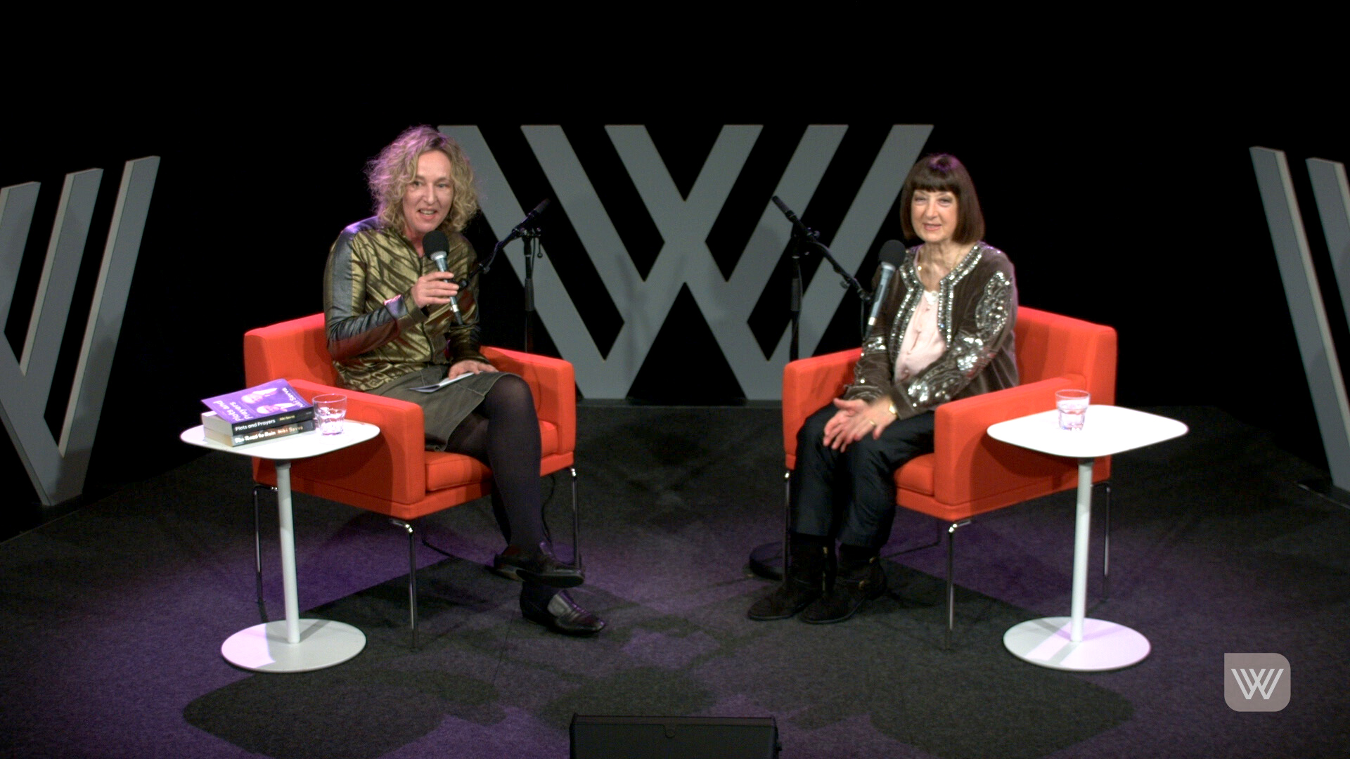 Photo of Sally Warhaft and Niki Savva