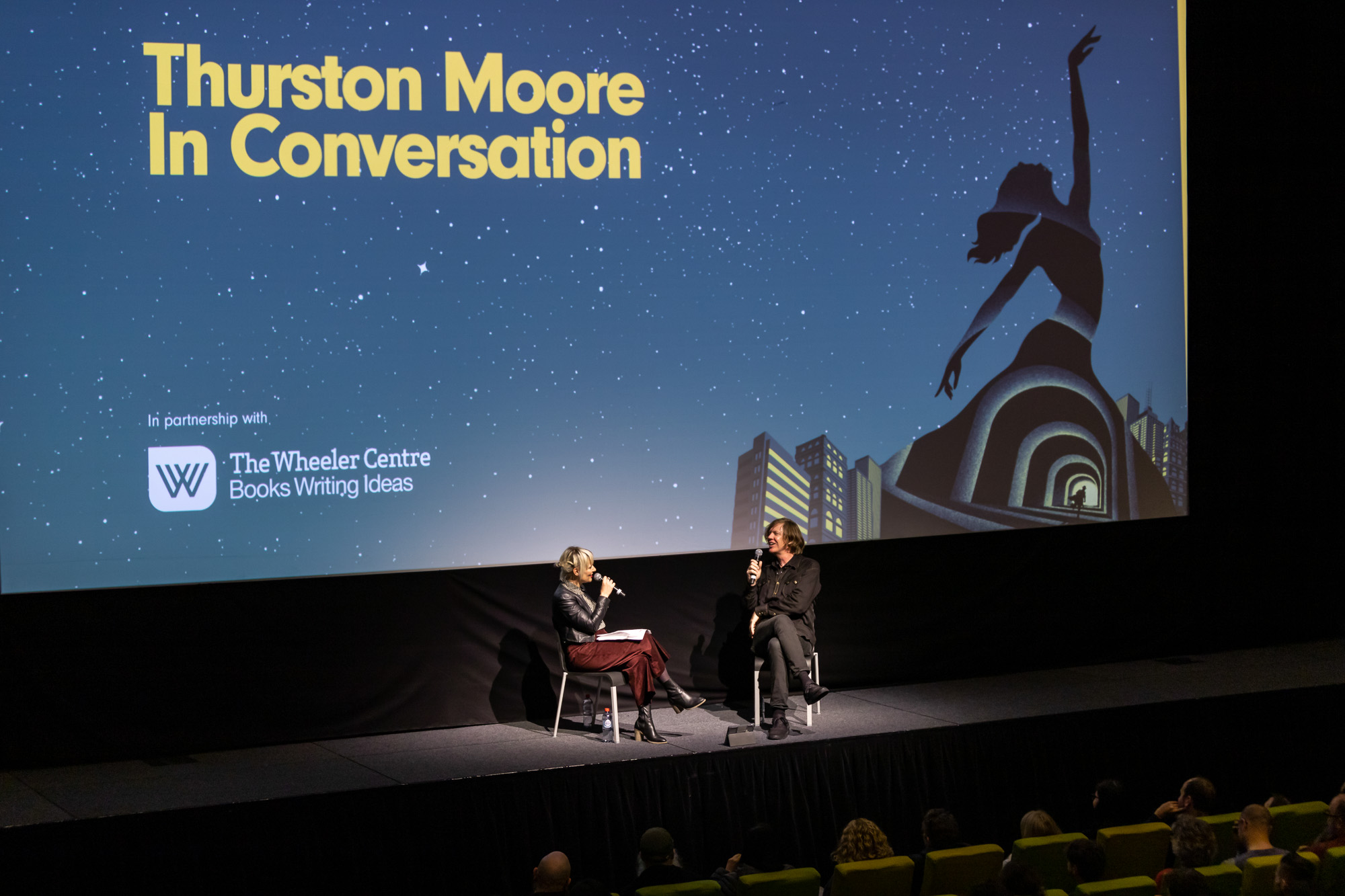 Photograph of Jacinta Parsons and Thurston Moore