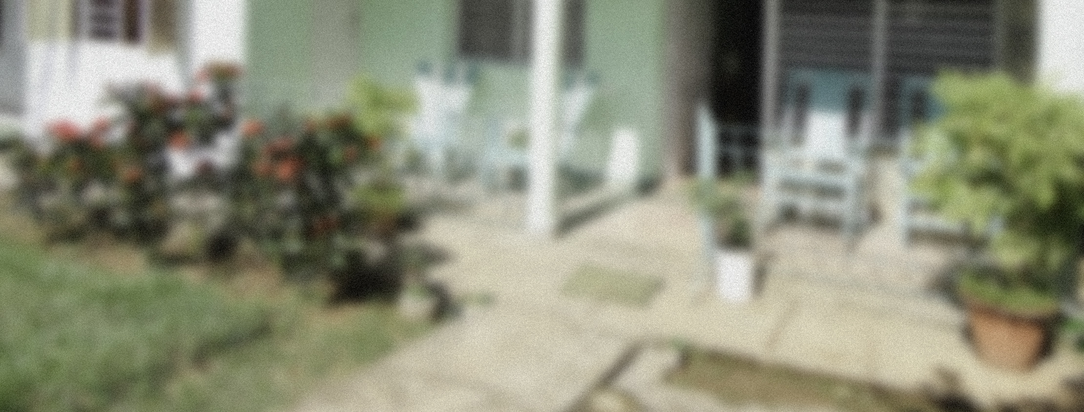 Blurred photograph of a patio