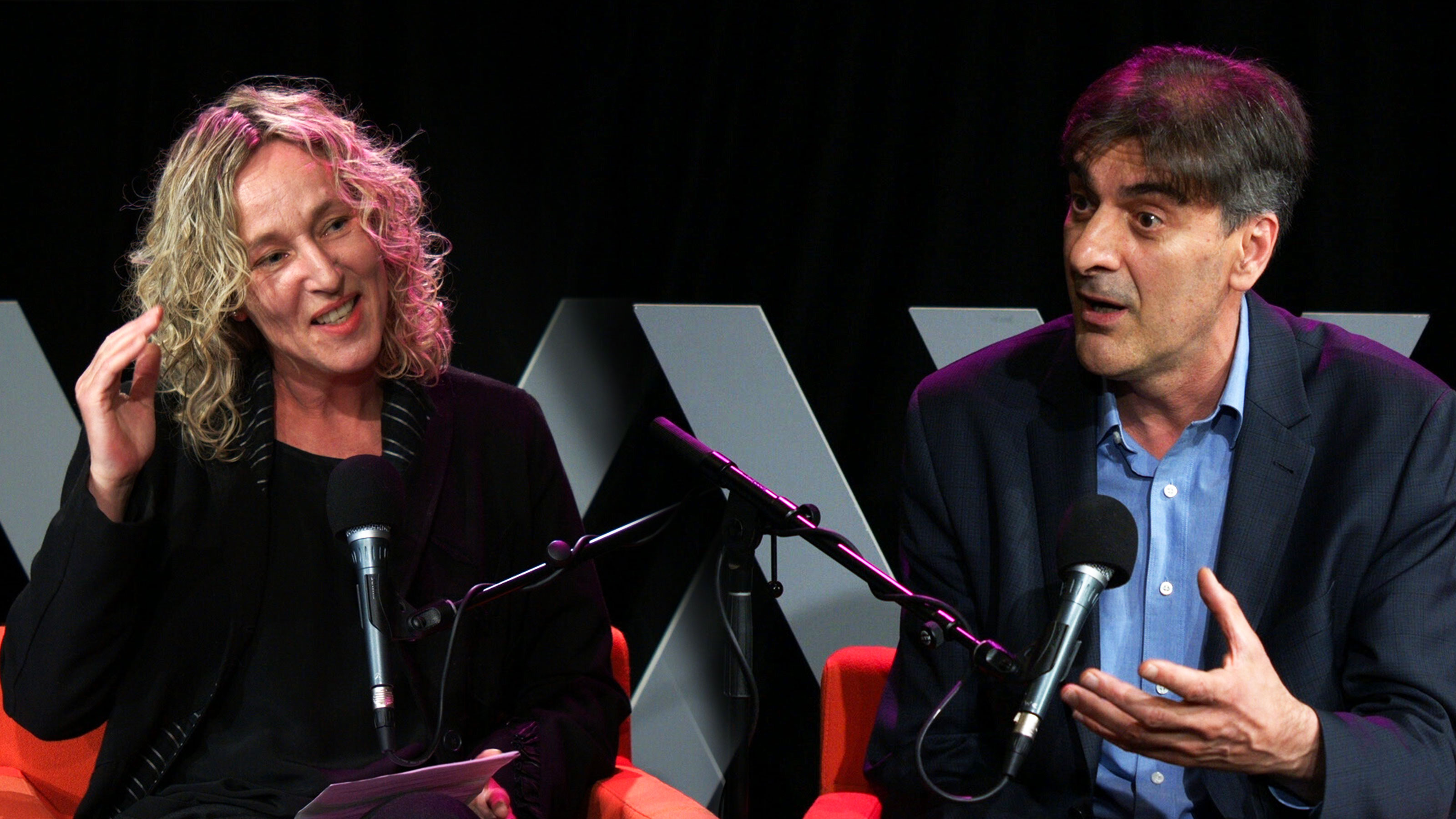 Photo of Sally Warhaft and George Megalogenis