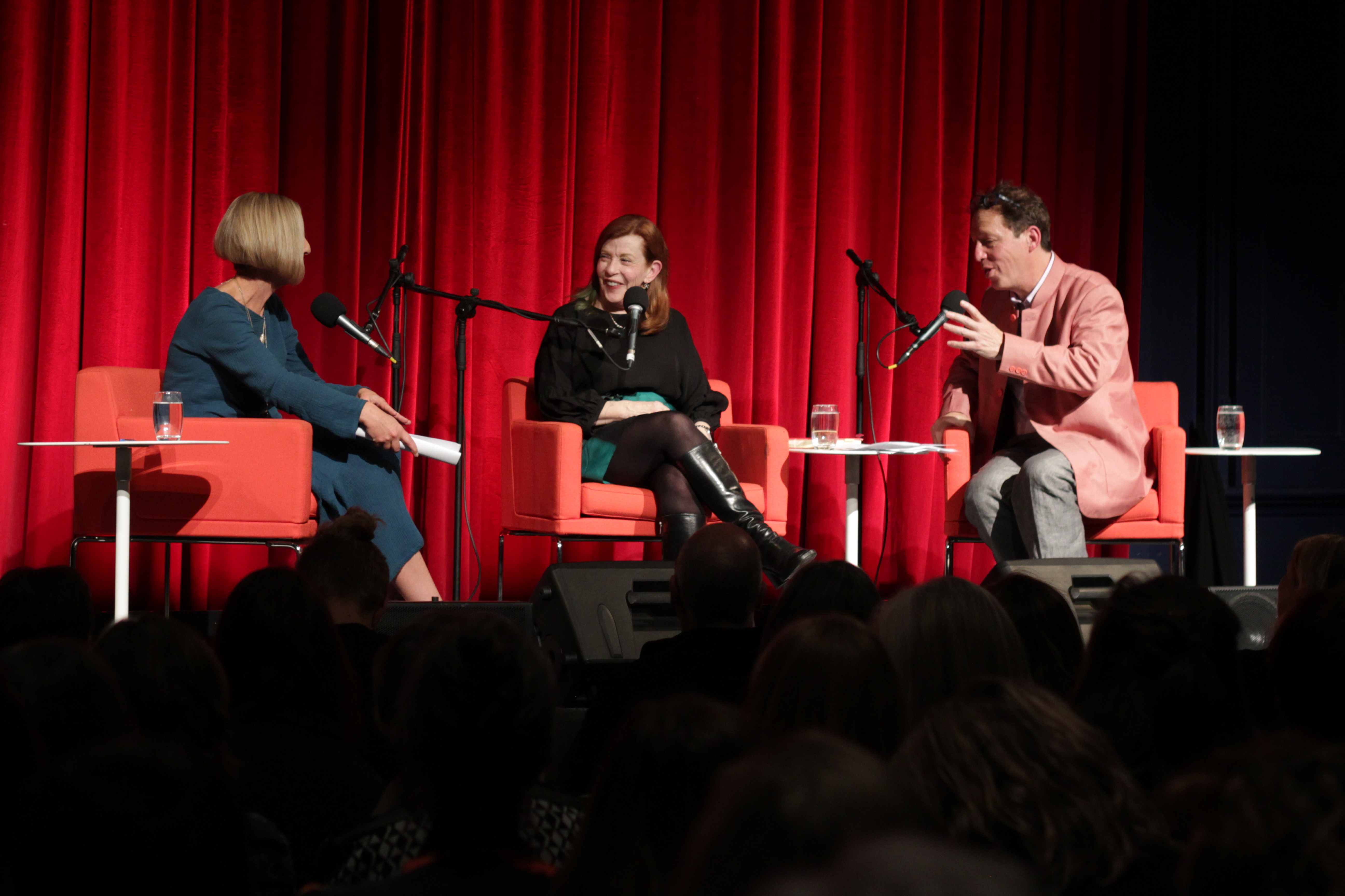 Photograph of Kate Torney, Susan Orlean and Paul Holdengräber