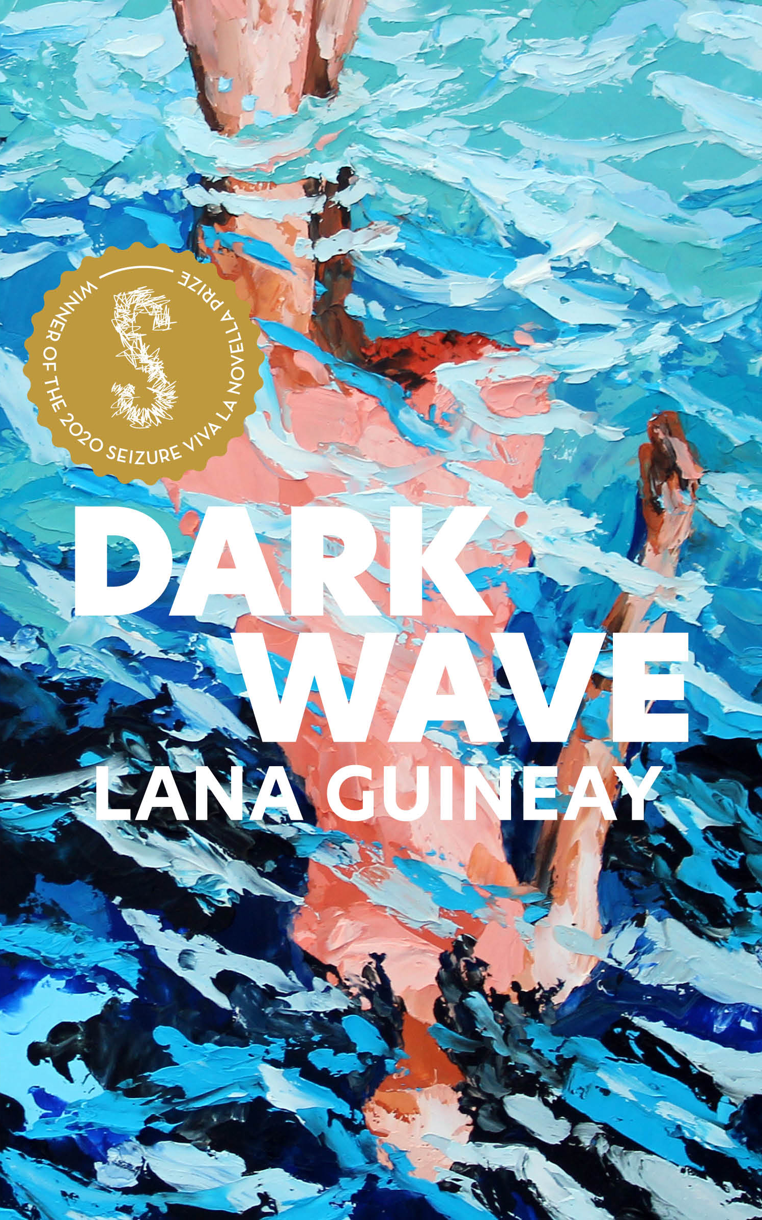 Cover of Dark Wave, featuring an illustration of a body reflected in water