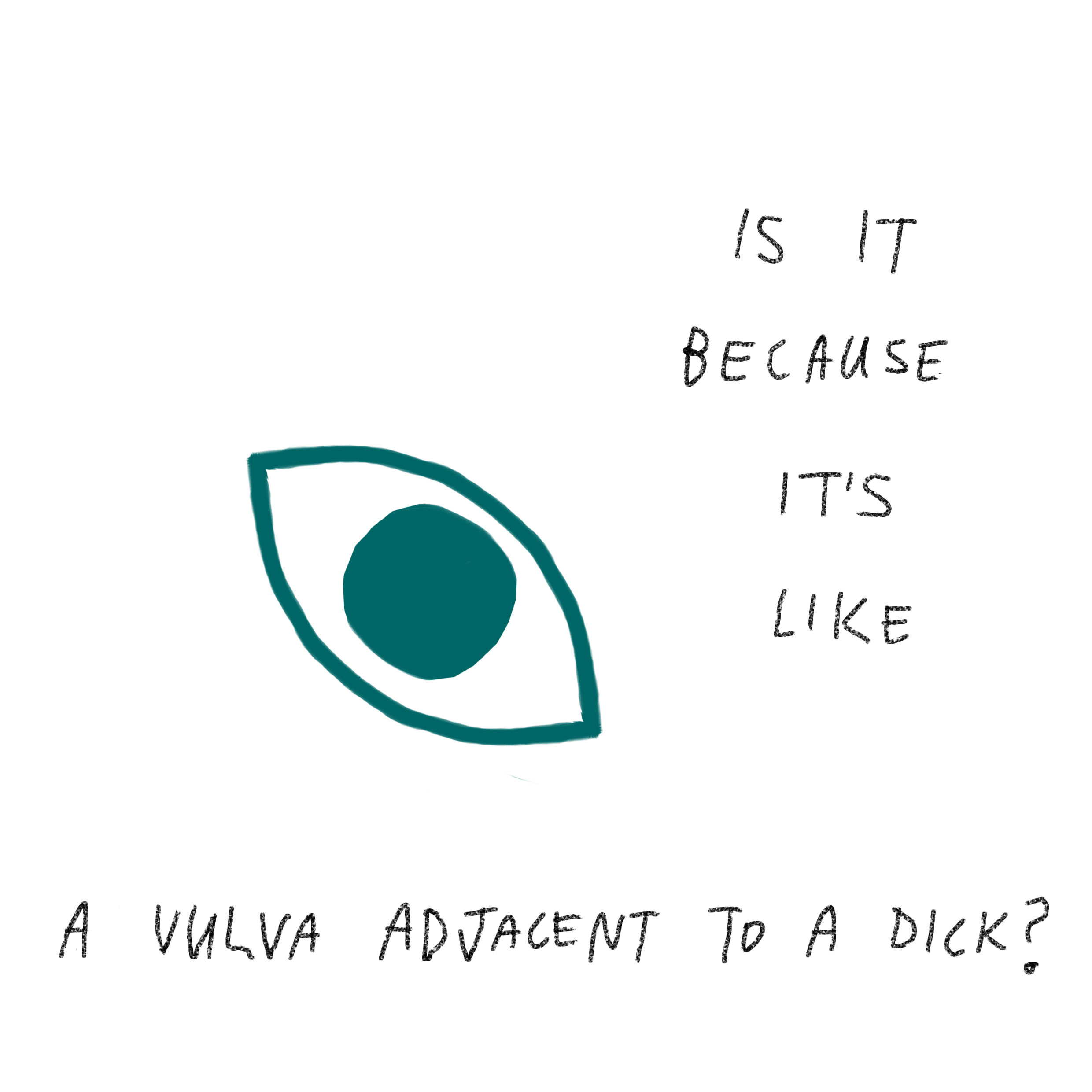 'Is it because it's like a vulva adjacent to a dick?'