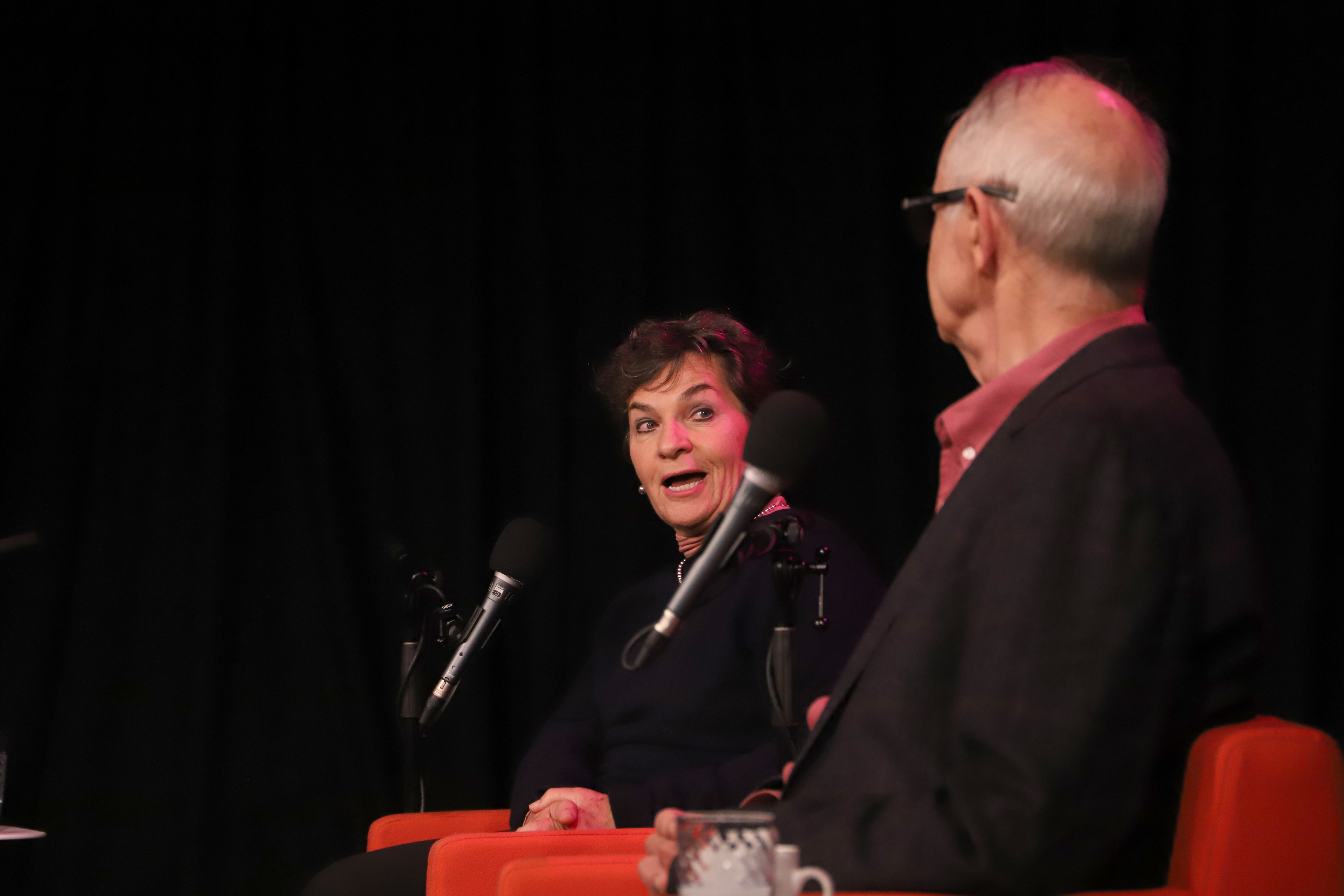 Photo of Christiana Figueres and Ross Garnaut