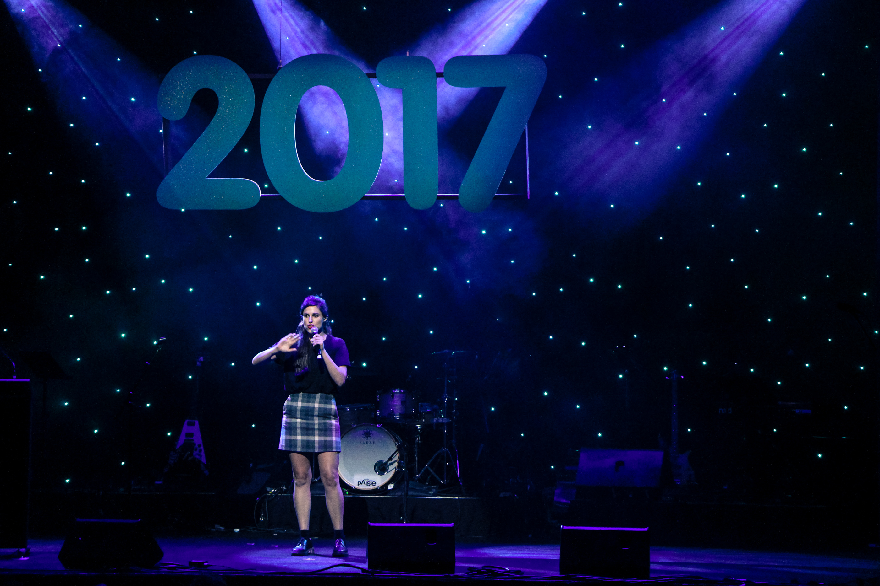 Isabel Angus performing at the Show of the Year 2017
