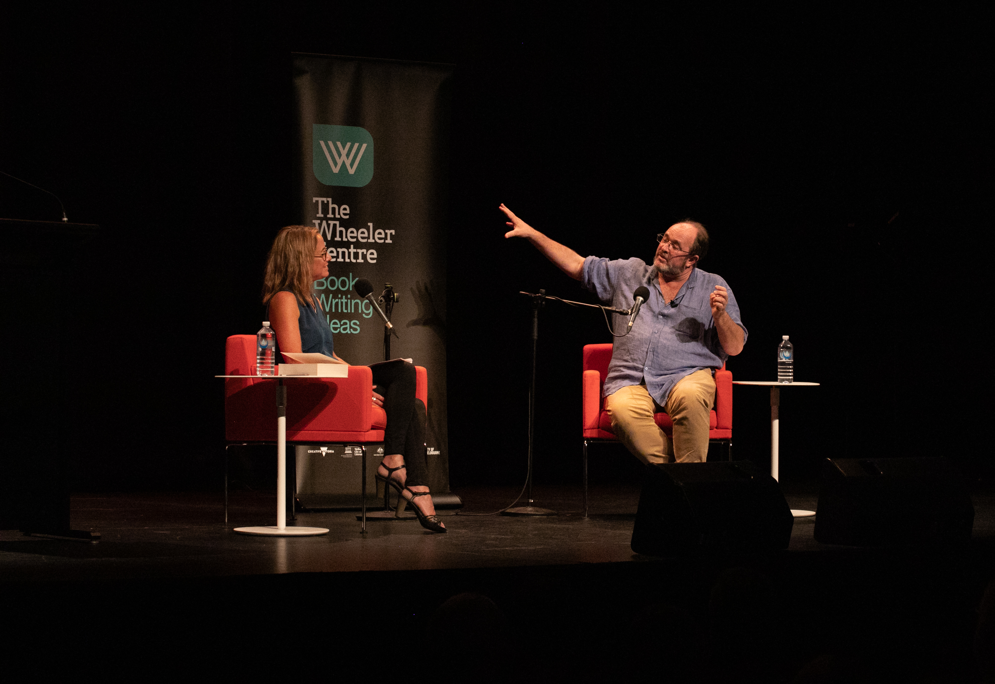 Photograph of Clare Wright and William Dalrymple