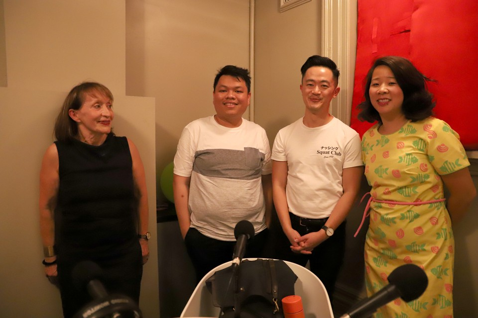 Photograph of Helene Embling, Nguyen Duc Duy, Benjamin Law and Beverley Wang