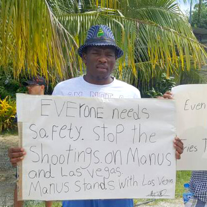 Photo of Abdul Aziz Muhamat on Manus Island