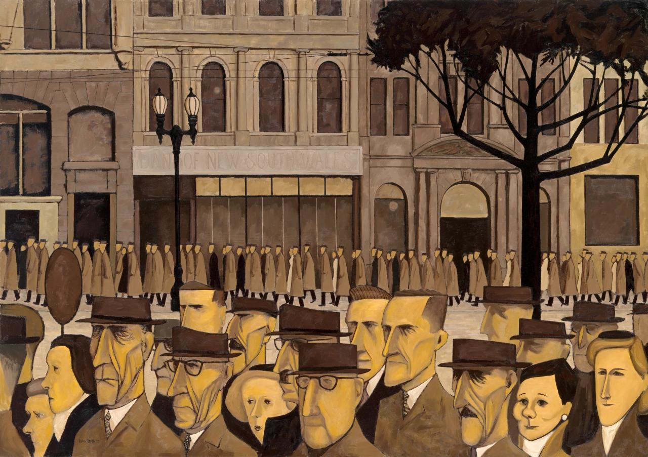 Digital image of 'Collins St., 5 pm' by John Brack
