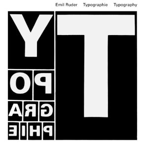 Cover image of the 2001 edition of Emil Ruder's 1967 'Typographie: A Manual of Design'