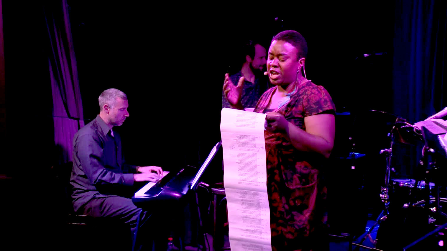 Darrin Archer (left) and Maxine Beneba Clarke performing Howl