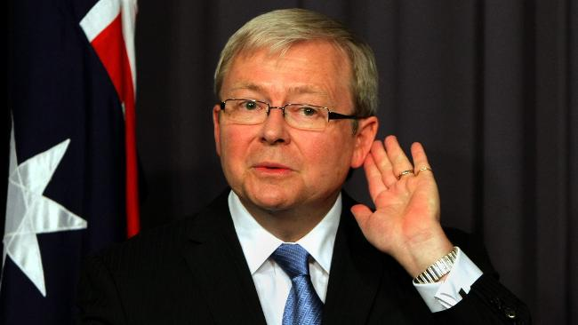 Michael Gawenda says, 'At his two bizarre press announcements in Washington, Kevin Rudd spoke as if he was a total innocent, as pure as the driven snow.