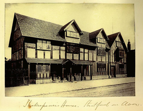 Shakespeare's House, Stratford-on-Avon, from the Hume Photograph Collection, University of Queensland