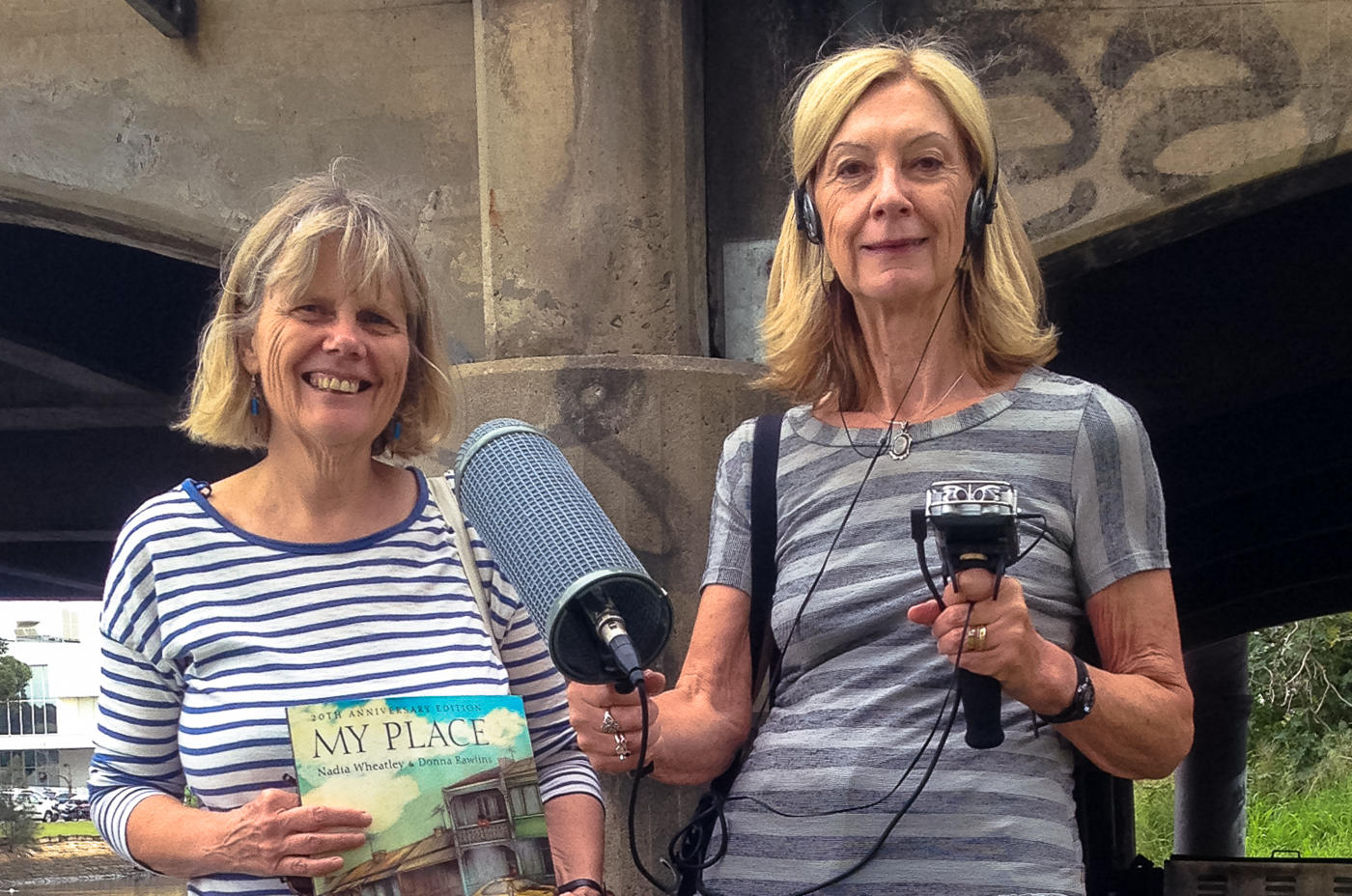 Robyn Ravlich records author Nadia Wheatley for a 2015 story aired on Earshot