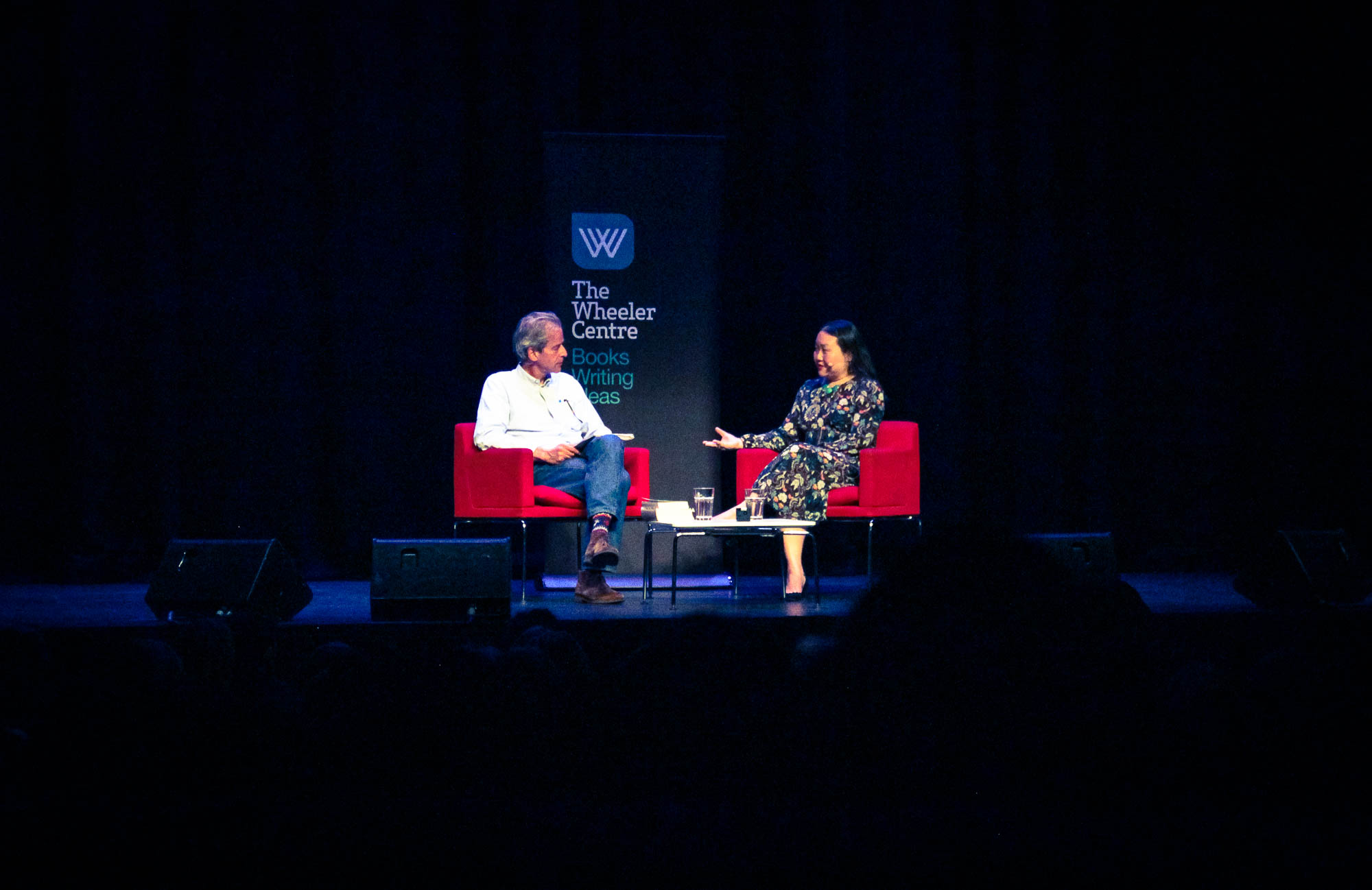 Jason Steger and Hanya Yanagihara – on stage for the Wheeler Centre