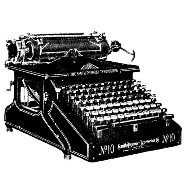 Image of Smith-Premier typewriter via WikiCommons