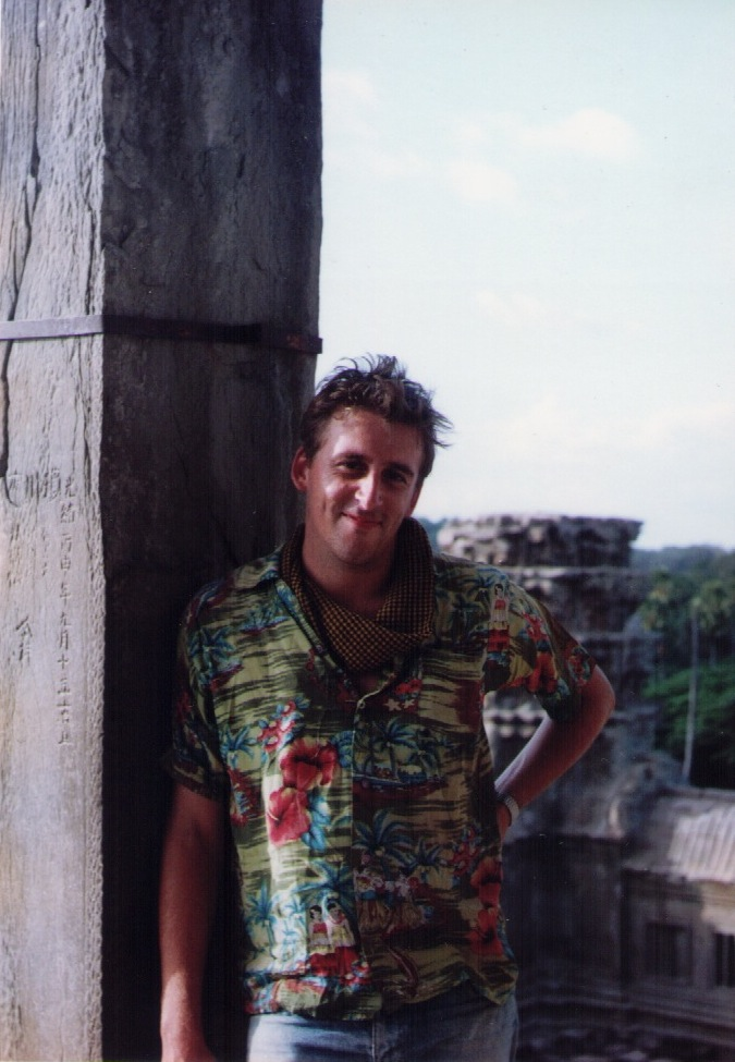Andrew Nette at Angkor Wat in 1992
