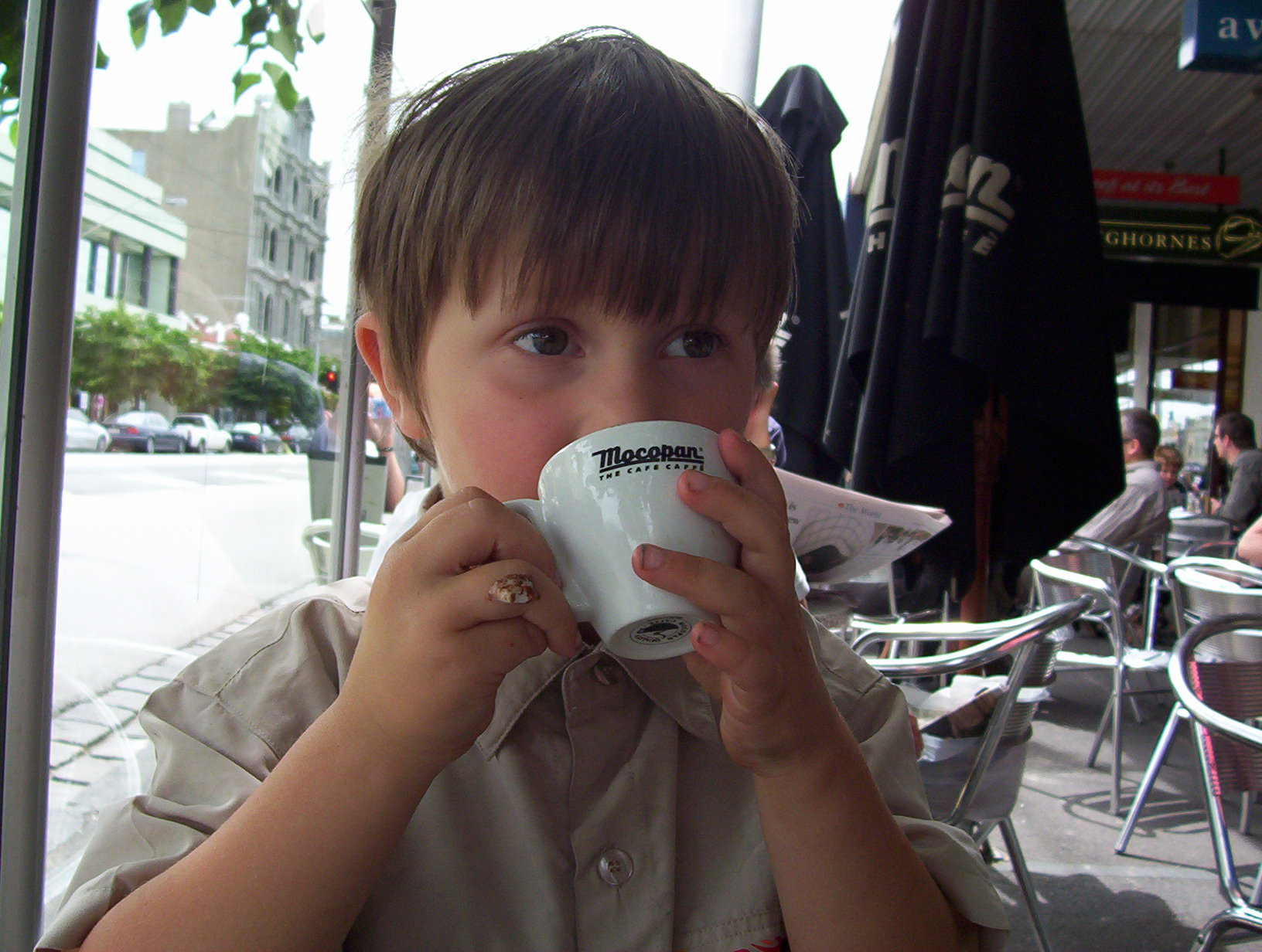 'What's with the BABYCINO? Why do kids have to pretend to drink coffee?'