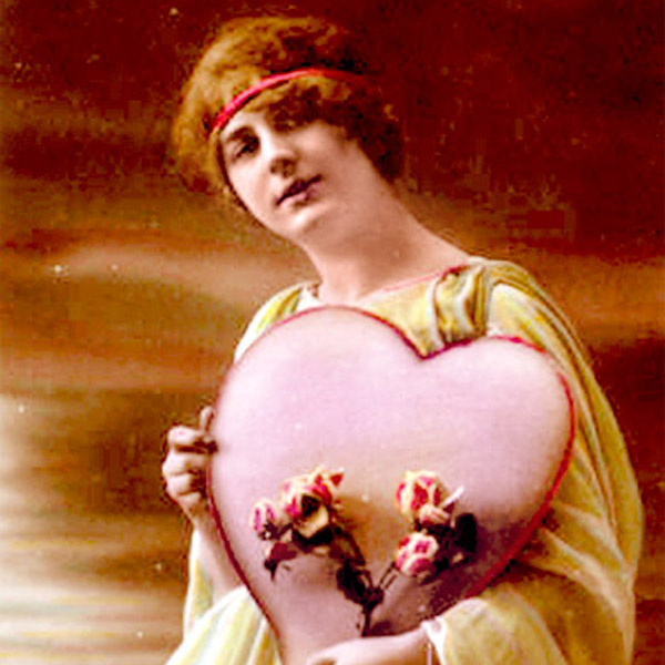 Old Valentine's Day card via WikiCommons