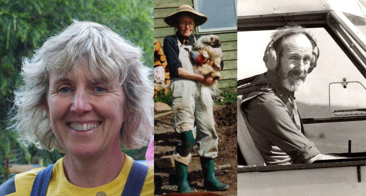 Photos of Cathy Pryor, her mother Anne and her father Peter