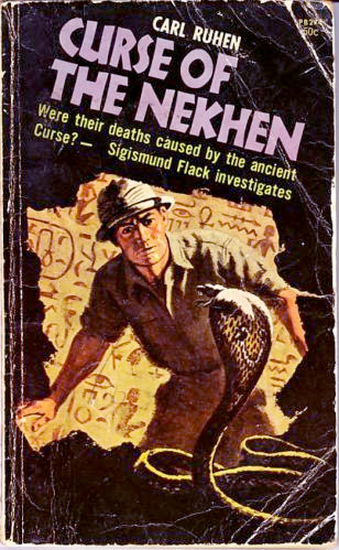 Carl Ruhen's first book for Horwitz:*Curse of the Nekhen*, 1966.