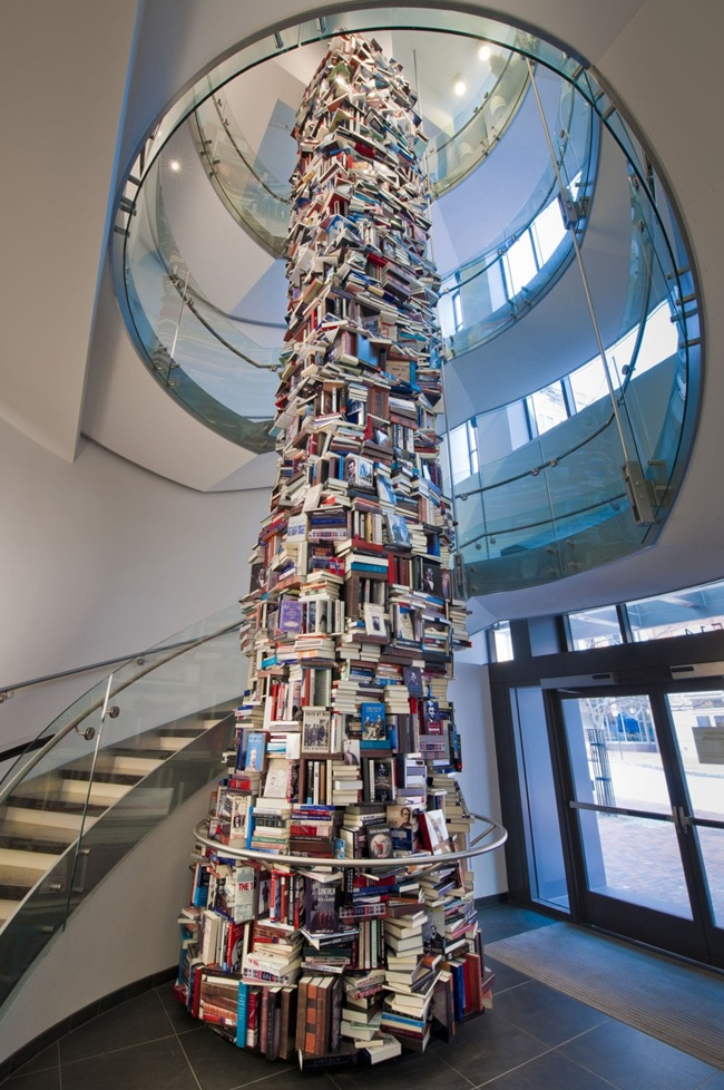 The 34-foot, or three-stories-high, Lincoln Book Tower.