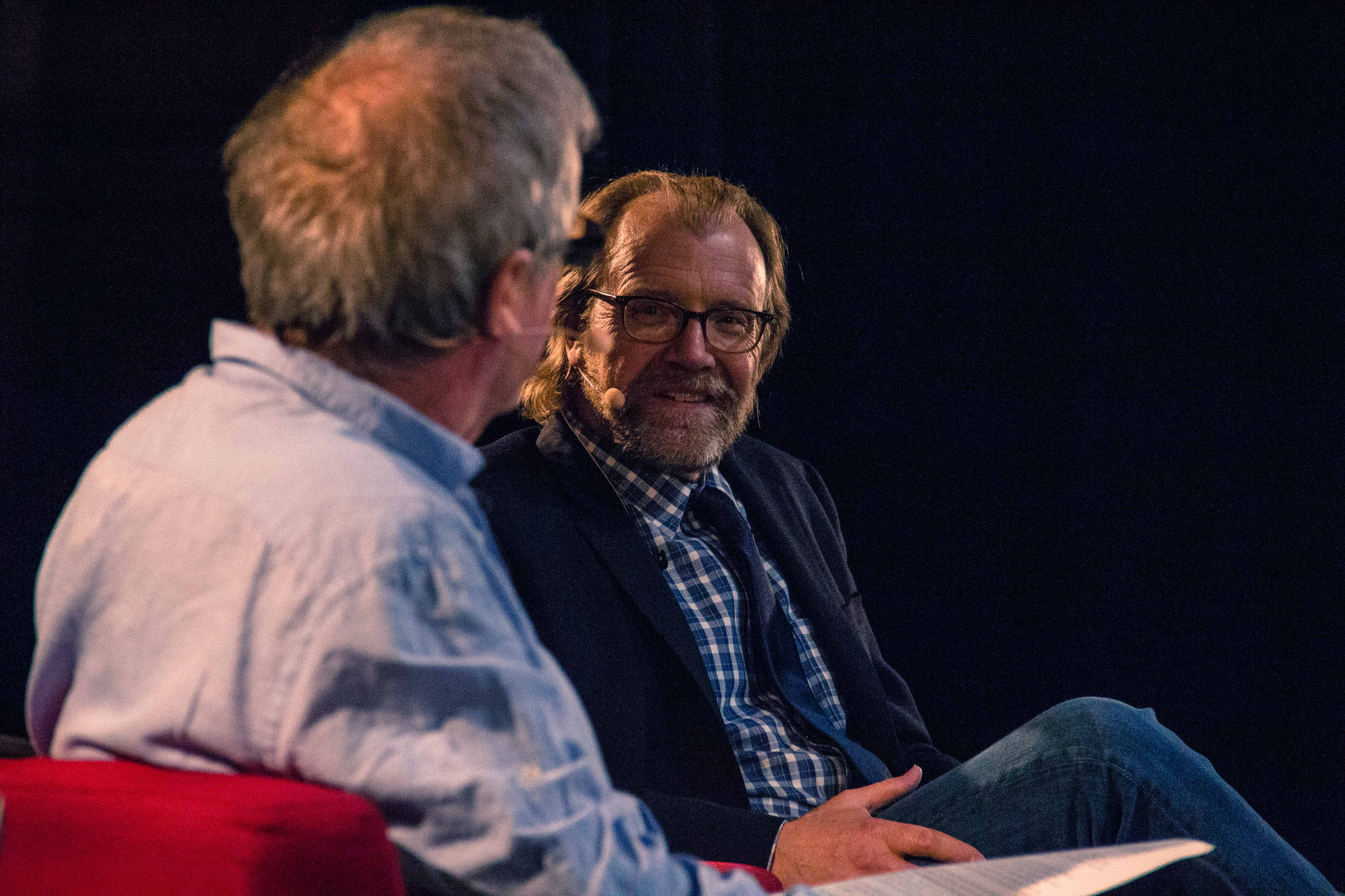 Photo of George Saunders with Don Watson