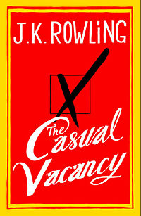 The cover of J.K. Rowling's first book for adults, *Casual Vacancy*.