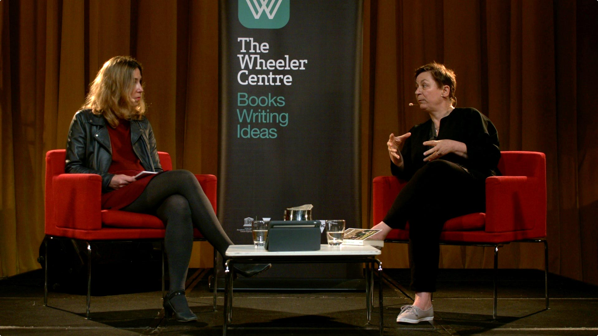 Photo of Pamela Paul and Anne Enright at Northcote Town Hall