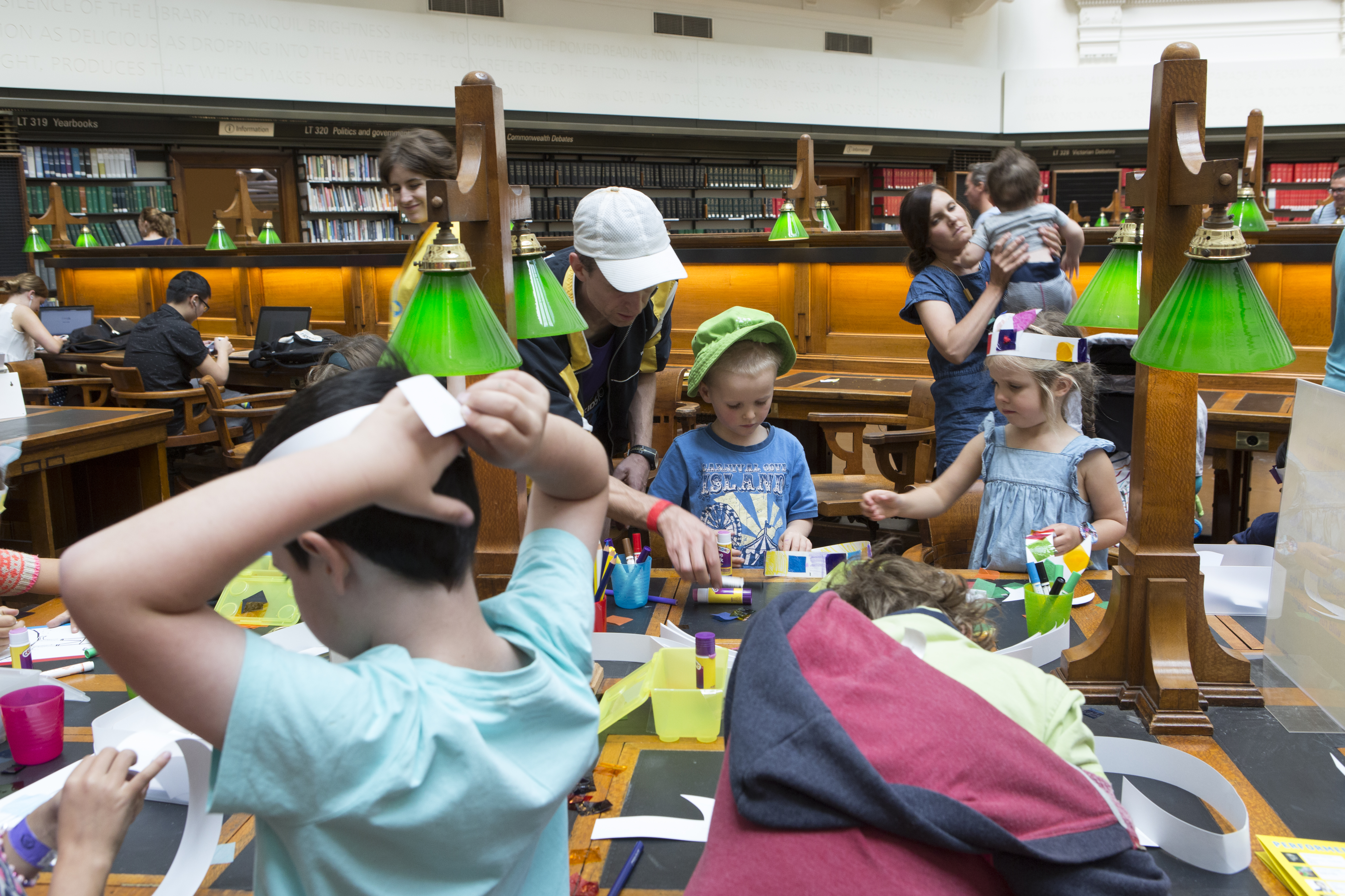 Image: Activities in the Dome Reading Room. (Teagan Glenane)