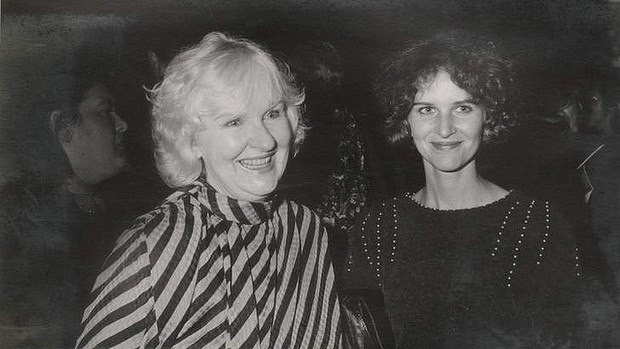Susan Wyndham and her mother Shirley. Right to left.
