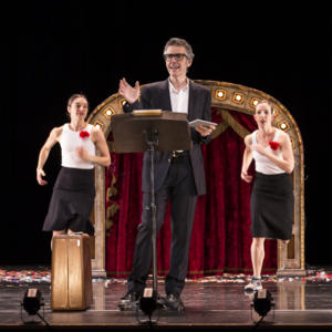 Promo image for Three Acts, Two Dancers, One Radio Host: Ira Glass, Monica Bill Barnes, Anna Bass