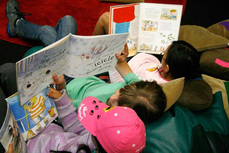 Photograph of children reading