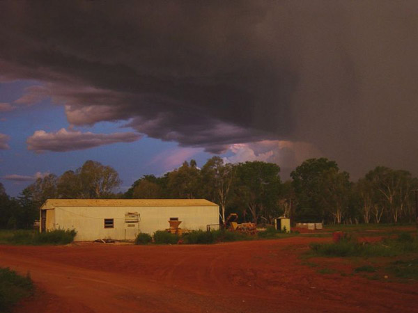 Image of a storm breaking over Robinson, an outstation near Borroloola in the Northern Territory's Gulf country, by Peter Nihill via WikiCommons.
