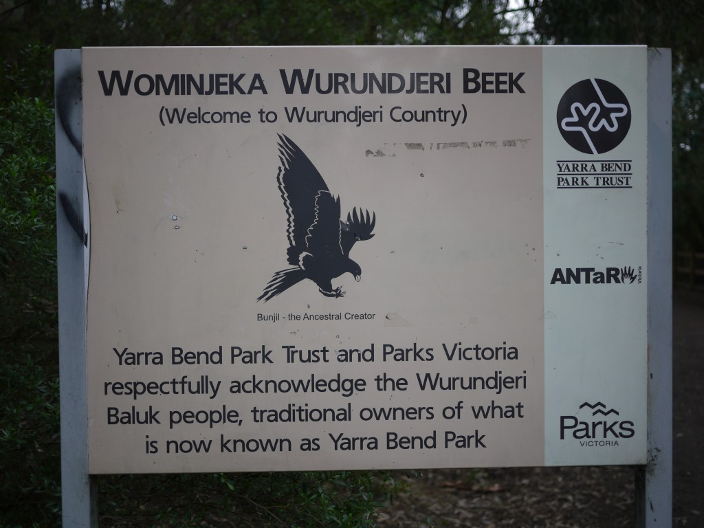 Image: 'Welcome to Wurundjeri Country'