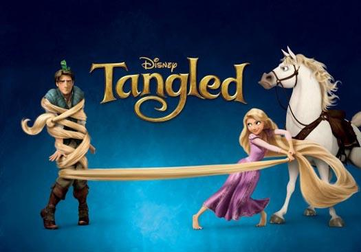 'The marketing campaign for *Tangled* emphasised the role of the male lead as sharing the spotlight with *Rapunzel*.'