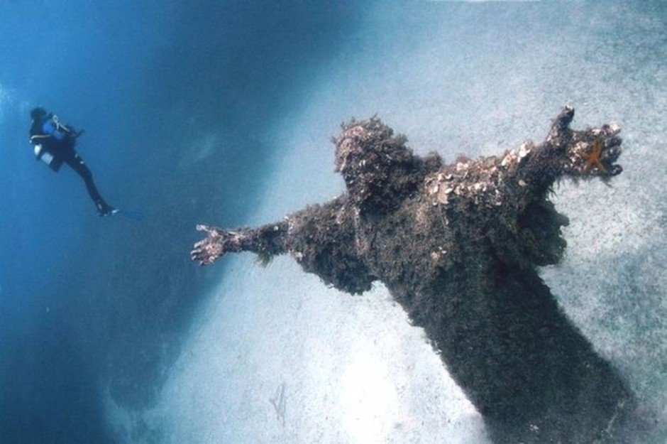 Christ of the Abyss, San Fruttoso, Italy