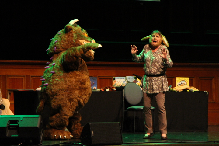 Image: Julia Donaldson and The Gruffalo.