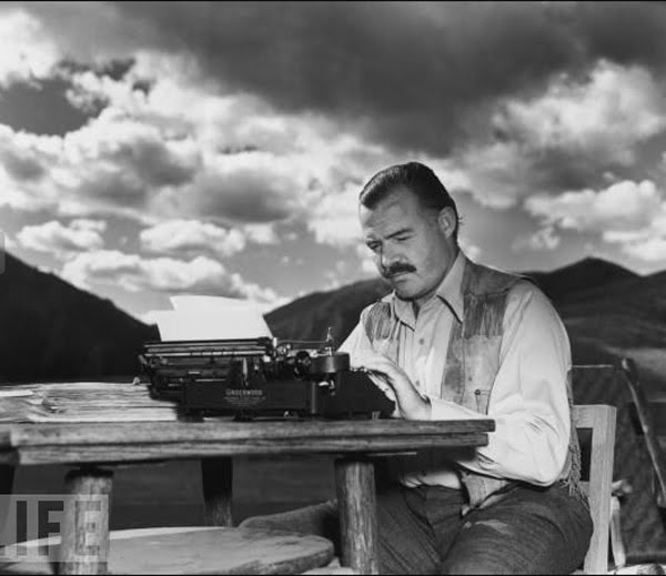 Ernest Hemingway, pictured, is not one of our Hot Desk Fellows.