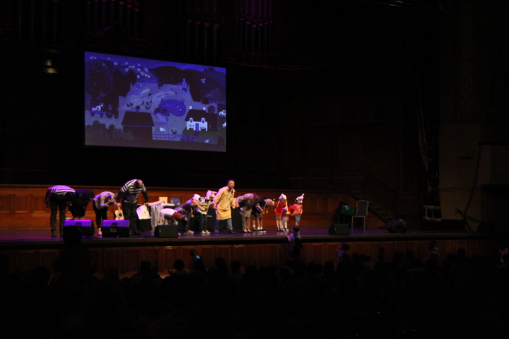 Image: Julia Donaldson and friends take a bow.