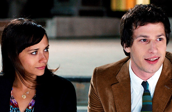 Rashida Jones with Andy Samberg in *Celeste and Jesse Forever*.