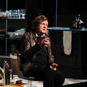 Cover image for of David Hare in conversation with Julian Burnside
