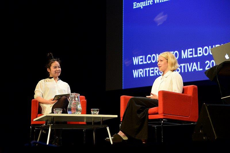 Estelle Tang interviews Tavi Gevinson at Melbourne Writers Festival 2013. Photo courtesy of MWF.
