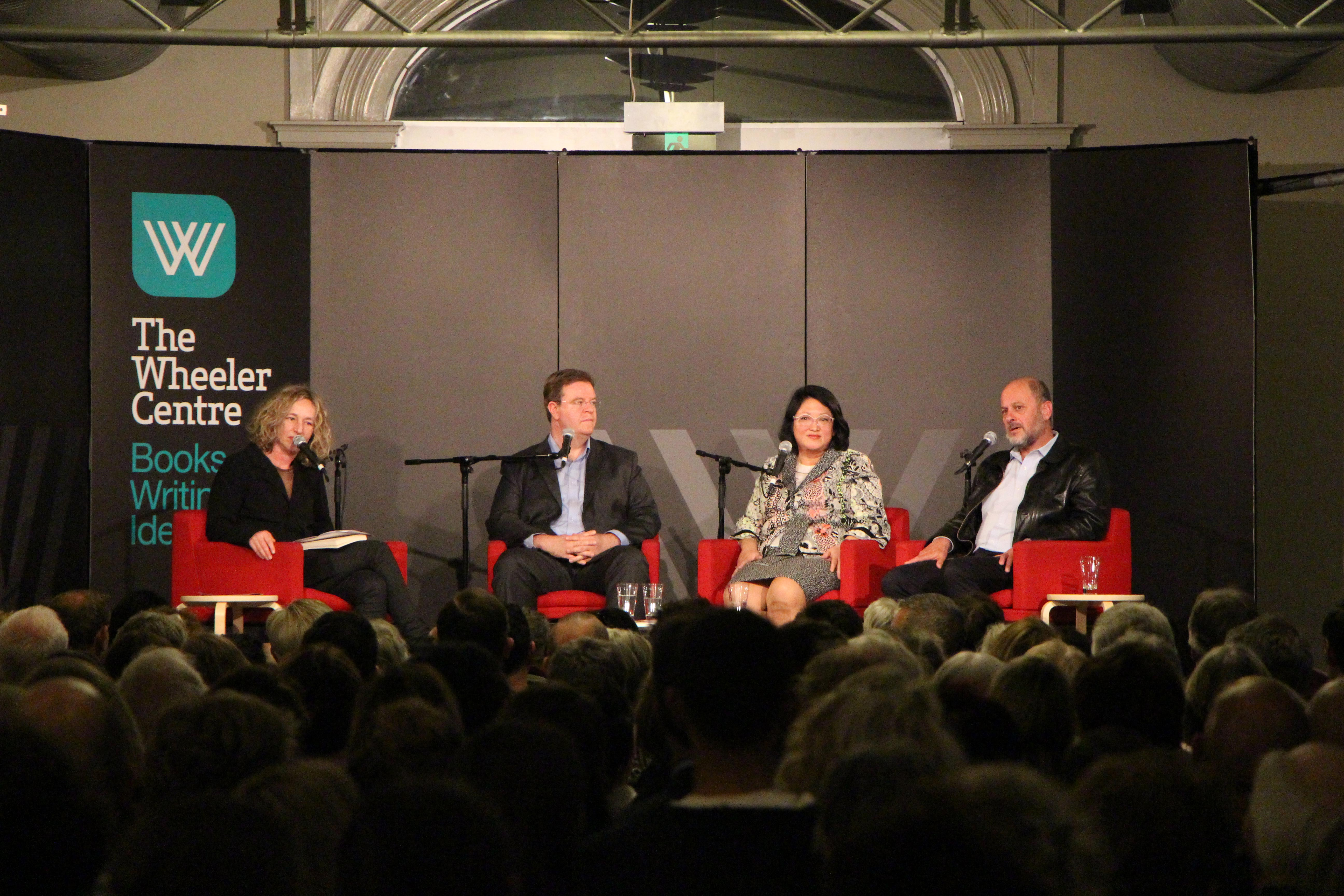 Photo: Sally Warhaft, John Grimes, Katherine Teh-White, Tim Flannery