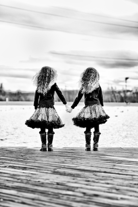 Photograph of twin girls